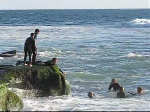 Dangerous Play on Bird Rock Beach ( La Jolla )