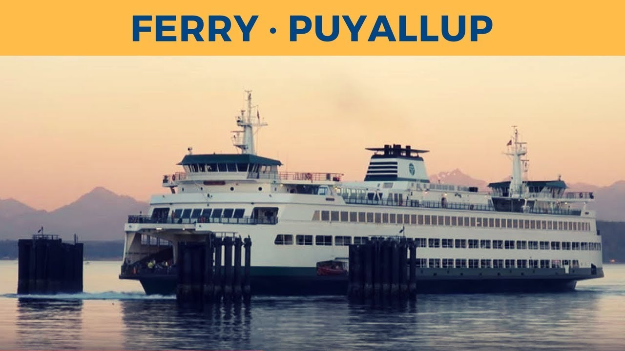 arrival of ferry puyallup in edmonds (washington state ferries