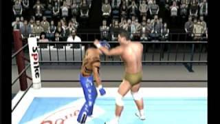 King of Colosseum II PS2 videogame: Rey vs Alberto