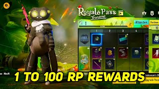 Season 19 Royal Pass 1 to 100 RP Rewards || Pubg Mobile Season 19 Royal Pass is Here