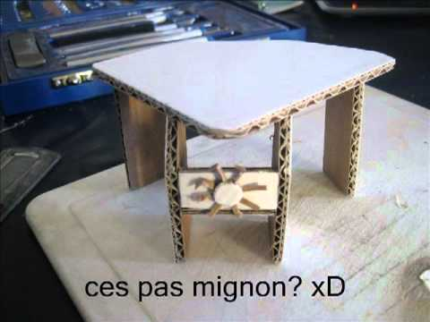 mini bureau en carton youtube. Black Bedroom Furniture Sets. Home Design Ideas