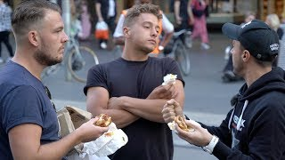 MEAT EATERS VS VEGAN BURGERS  [STREET DEBATE]