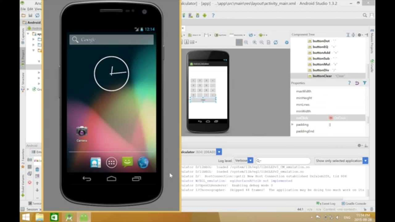 Phone Calculator For Android Phone android calculator build using studio youtube