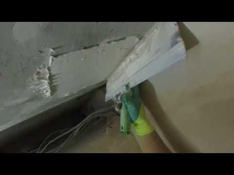 Как шпаклевать бетонный потолок под покраску