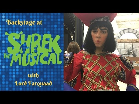 LORD FARQUAAD GIVES A BACKSTAGE TOUR AT SHREK THE MUSICAL