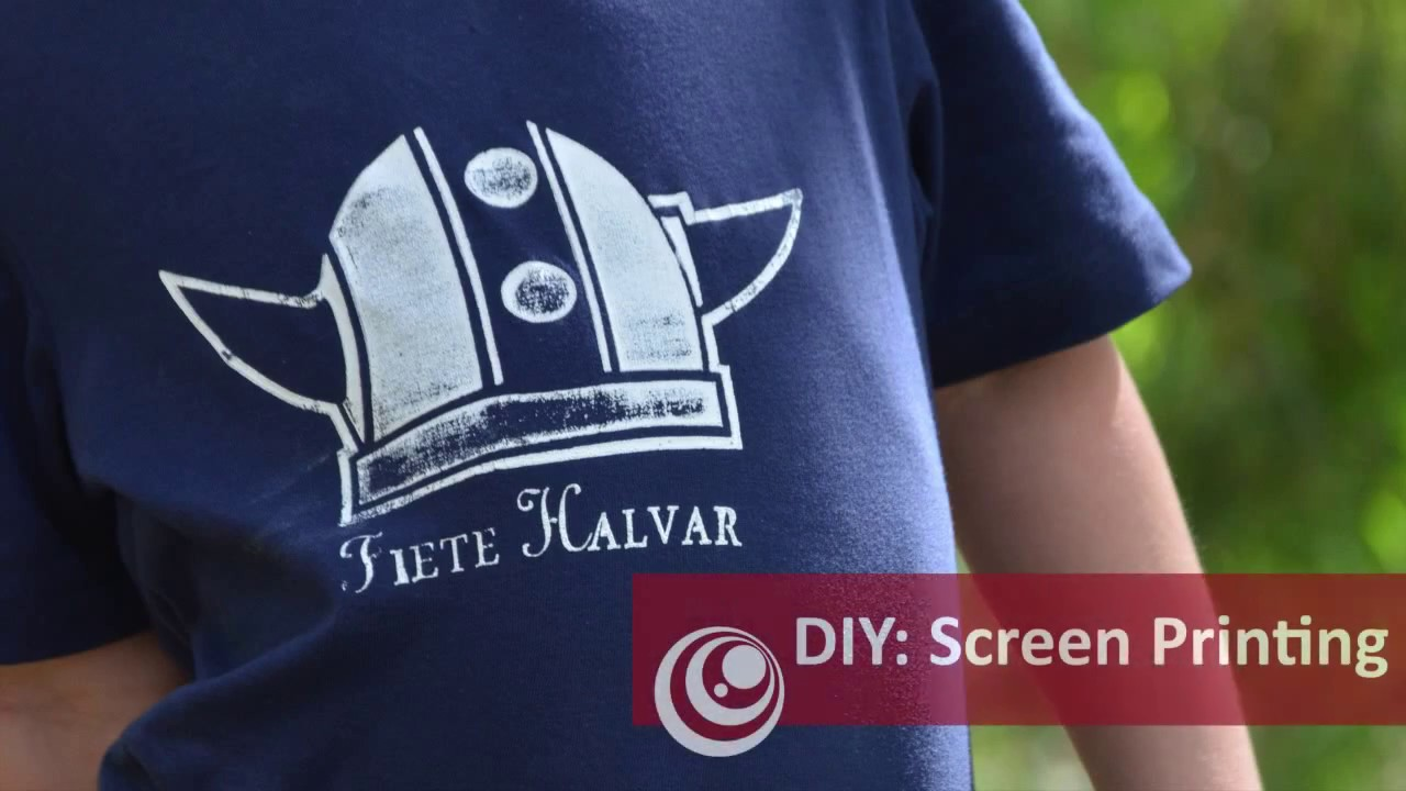 d2ec47bc Amazingly Simple way to Screen Print at Home! - YouTube
