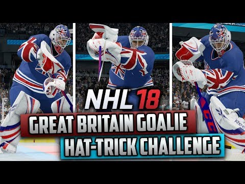 Can Great Britain's Goalie Get a Hat-Trick in NHL Threes? (NHL 18 Challenge)