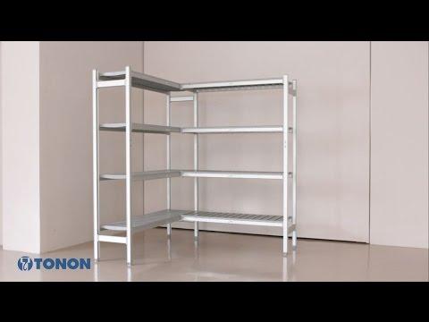 Scaffalature Iron System.Tonon Shelving System Assembly Scaffalature Per Celle