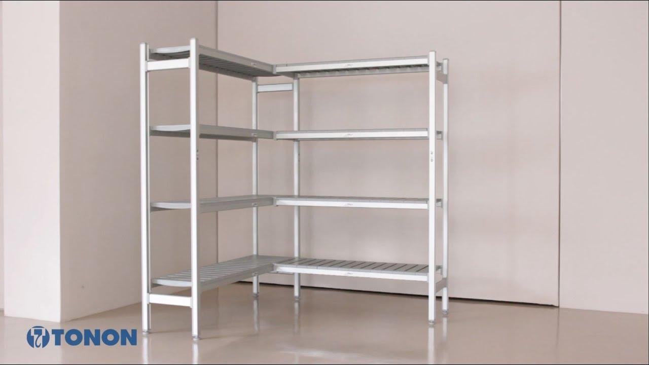Scaffali Low Cost.Tonon Shelving System Assembly Scaffalature Per Celle Frigorifere
