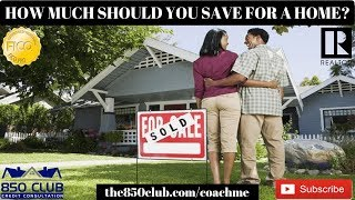 How Much Should You Save For A Home? - Down Payment Assistance, Personal Loan, First Time Buyer 2019