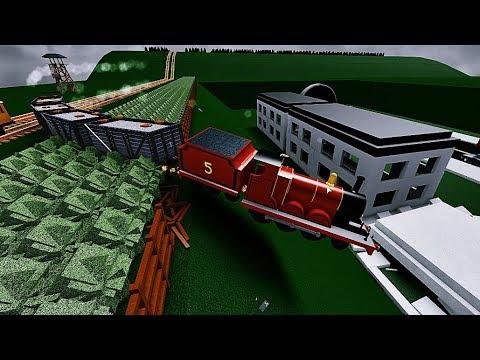 Thomas The Tank Engine James And The Houses And Thomas MR Muffle Mountain Crash 2
