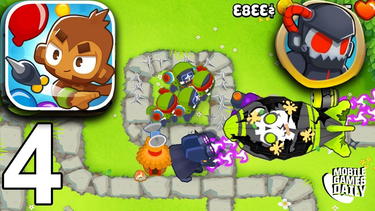 BLOONS TD 6 - Monkey Meadows Hard Difficulty - Gameplay Part 4 (iOS Android)