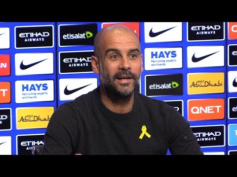 Pep Guardiola On Old Trafford Derby Bust-Up - Pre-Match Press Conference - Swansea v Manchester City