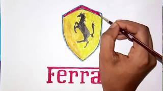 How can you draw the ferrari logo (logo drawing)