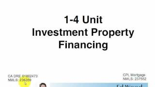 How to buy or purchase SFR, Duplex, Triplex, Four Unit Investment Property Mortgage or Financing(Whats required to finance 1 to 4 unit investment property. This should cover the basics of financing investment property. Ed Wood Broker., 2011-05-21T05:21:17.000Z)