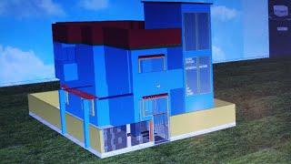 30 × 40 duplex house 3d model