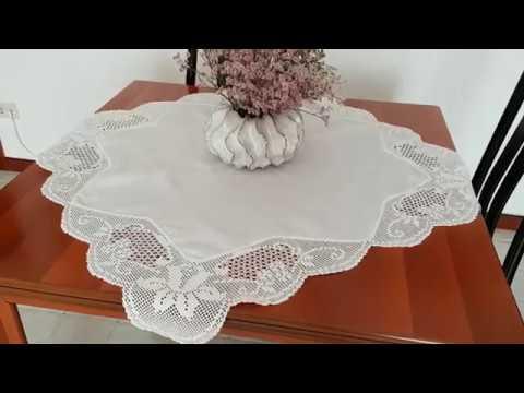 Схемы вышивка крестом салфетки и скатерти