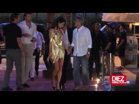 George Clooney disfruta de Ibiza con su mujer, Amal  Alamuddin