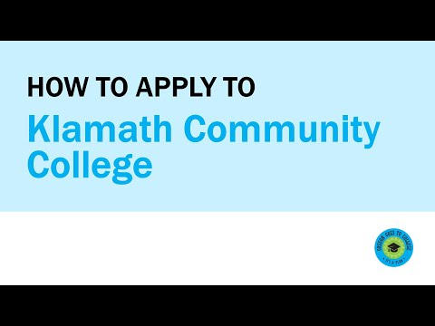 How to Apply to Klamath Community College