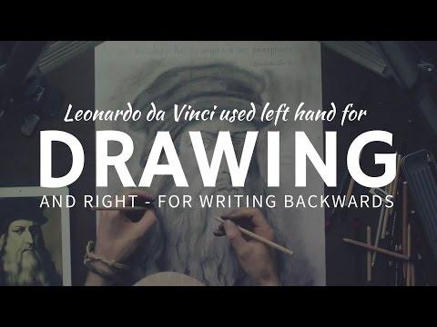 DRAWING & mirror writing skills by Leonardo Da Vinci