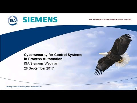 Cybersecurity for Control Systems in Process Automation - North American Session