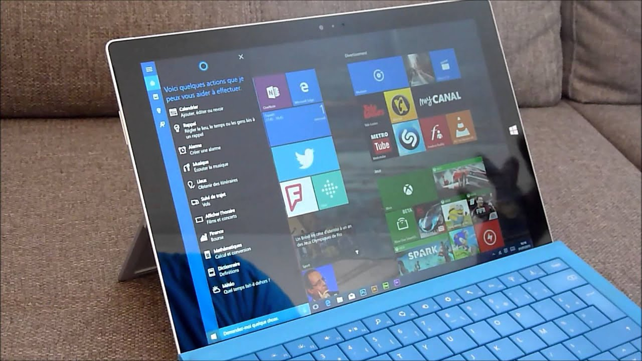 test de windows 10 cortana pour vos tablettes et pc youtube. Black Bedroom Furniture Sets. Home Design Ideas