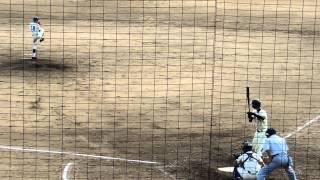 2012/10/7 如水館vs崇徳@呉二河球場 崇徳・野村颯一郎選手の猛打賞