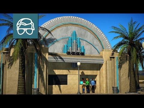 Customer Service Building - Jollywood Studios - Planet Coaster Speed Build - 3 |