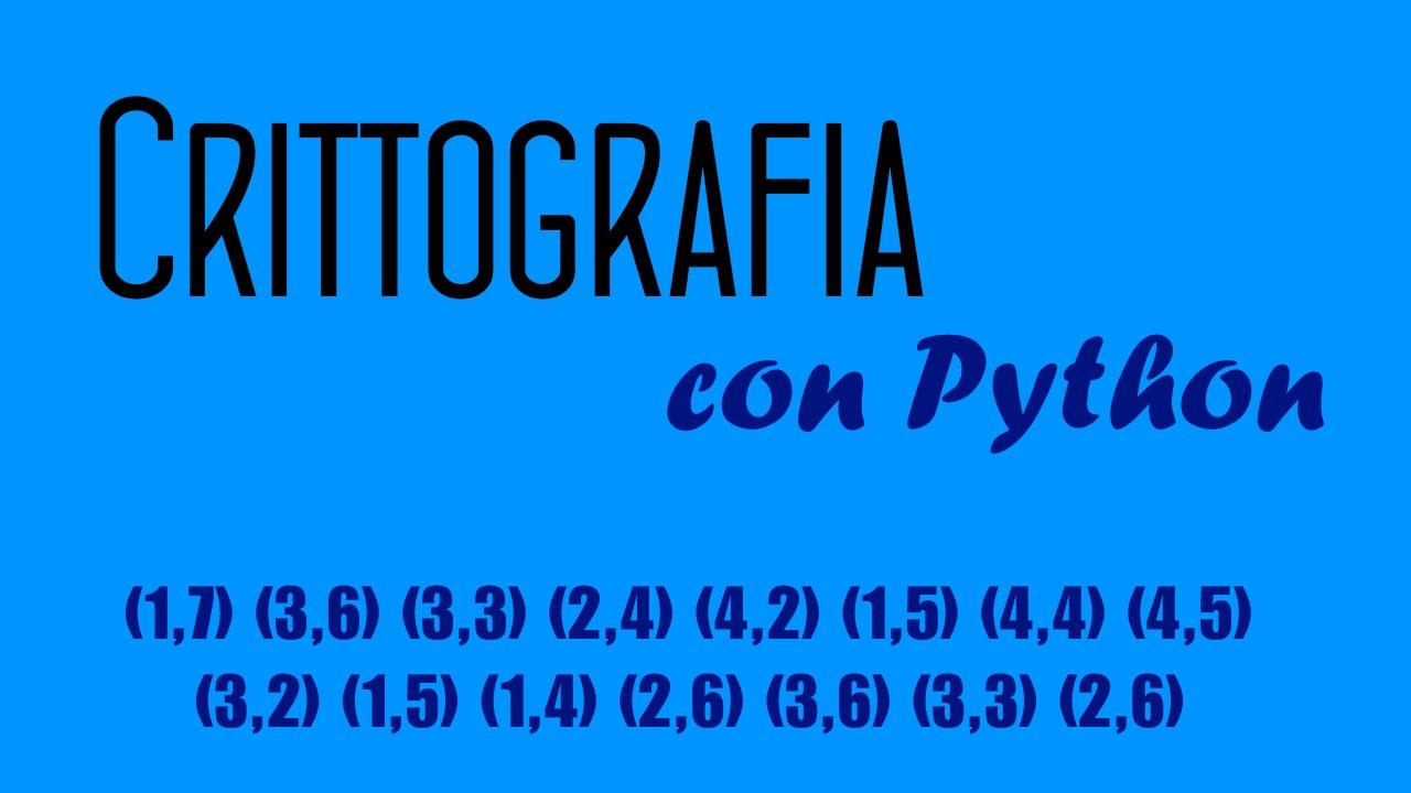 #2 Crittografia con Python - RSA