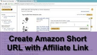 Create Amazon Short URL with Affiliate Link-amzn.to thumbnail