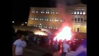 Greeks celebrate World Cup victory against Ivory Coast