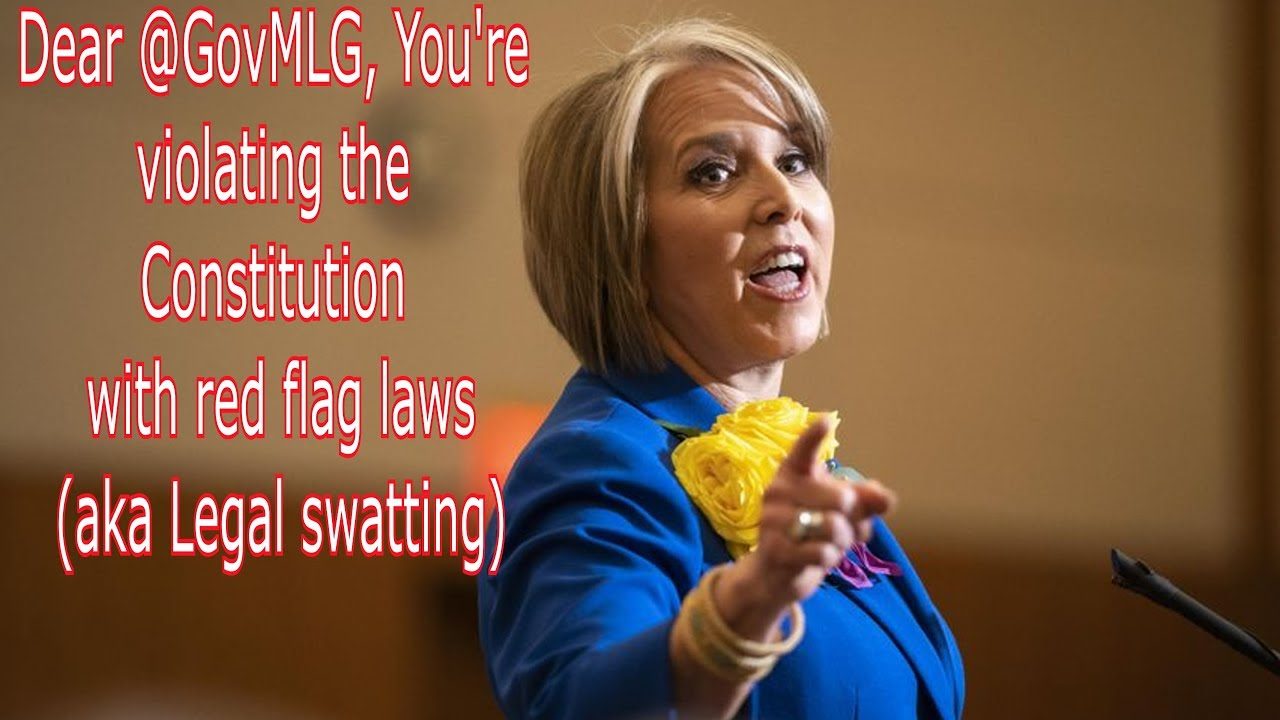 Dear @GovMLG, You're violating the Constitution with red flag laws (Legal swatting)Via @RunNGunsNews