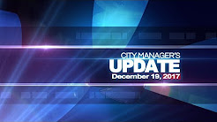 City Manager's Update December 19, 2017