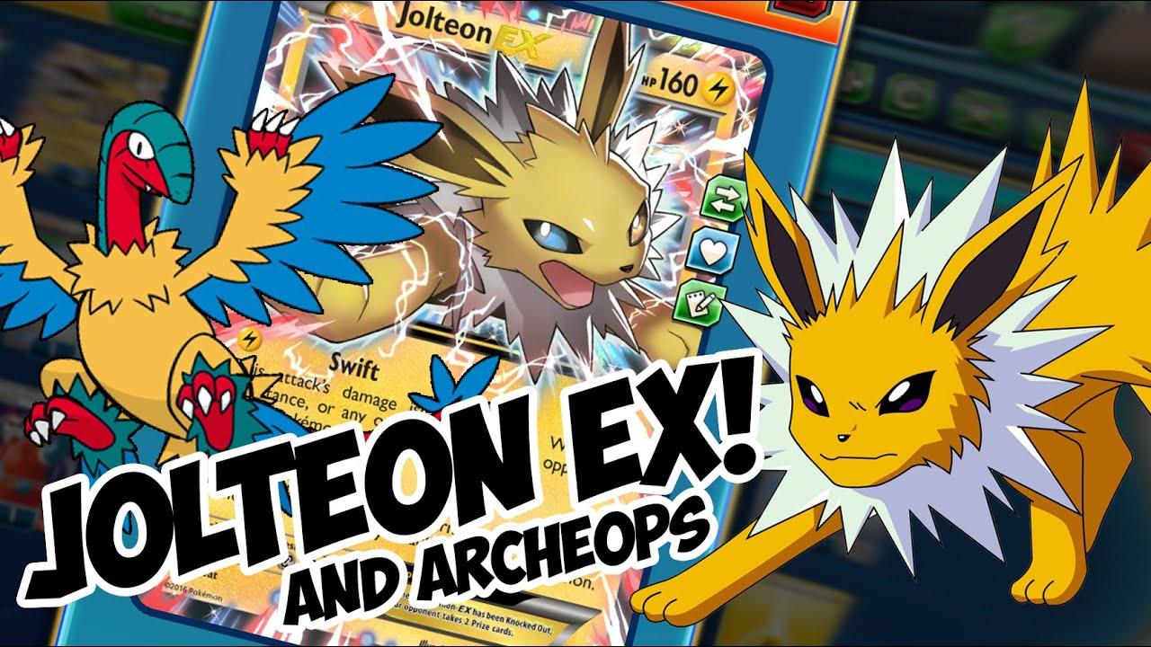 Roller skates tcg - Jolteon Ex And Archeops Complete Lockdown Pokemon Tcg Online