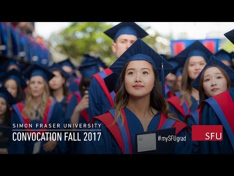 Simon Fraser University Fall Convocation 2017 - Oct 6 2:30pm