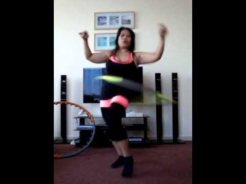 dance with hula hoop