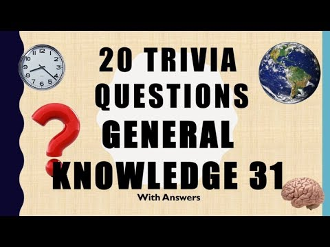 20 Trivia Questions (Science)