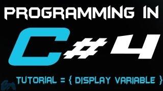 Programming in C Tutorial 4: Display/Print Variables [HD]