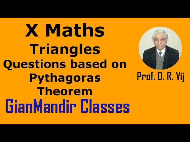X Maths | Triangles | Questions based on Pythagoras Theorem by Preeti Ma'am