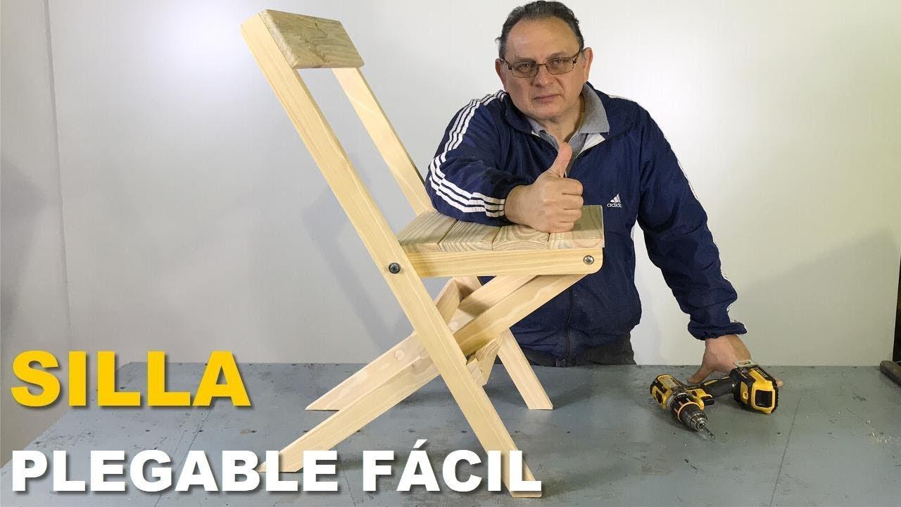 Silla plegable de madera f cil y r pida para hacer paso a for Silla escalera de madera plegable