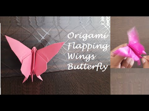Origami Butterfly with Flapping Wings