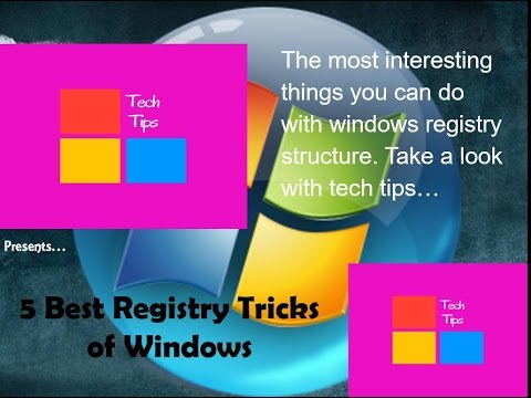5 Most Interesting Windows Registry Tricks PART -1