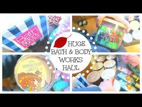 HUGE BATH & BODY WORKS FALL CANDLES HAUL | Vlogtober Day 25