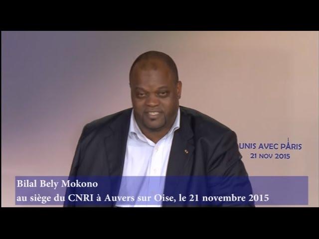 Bley Mokono au siége du CNRI à Auvers sur Oise le 21nov2015