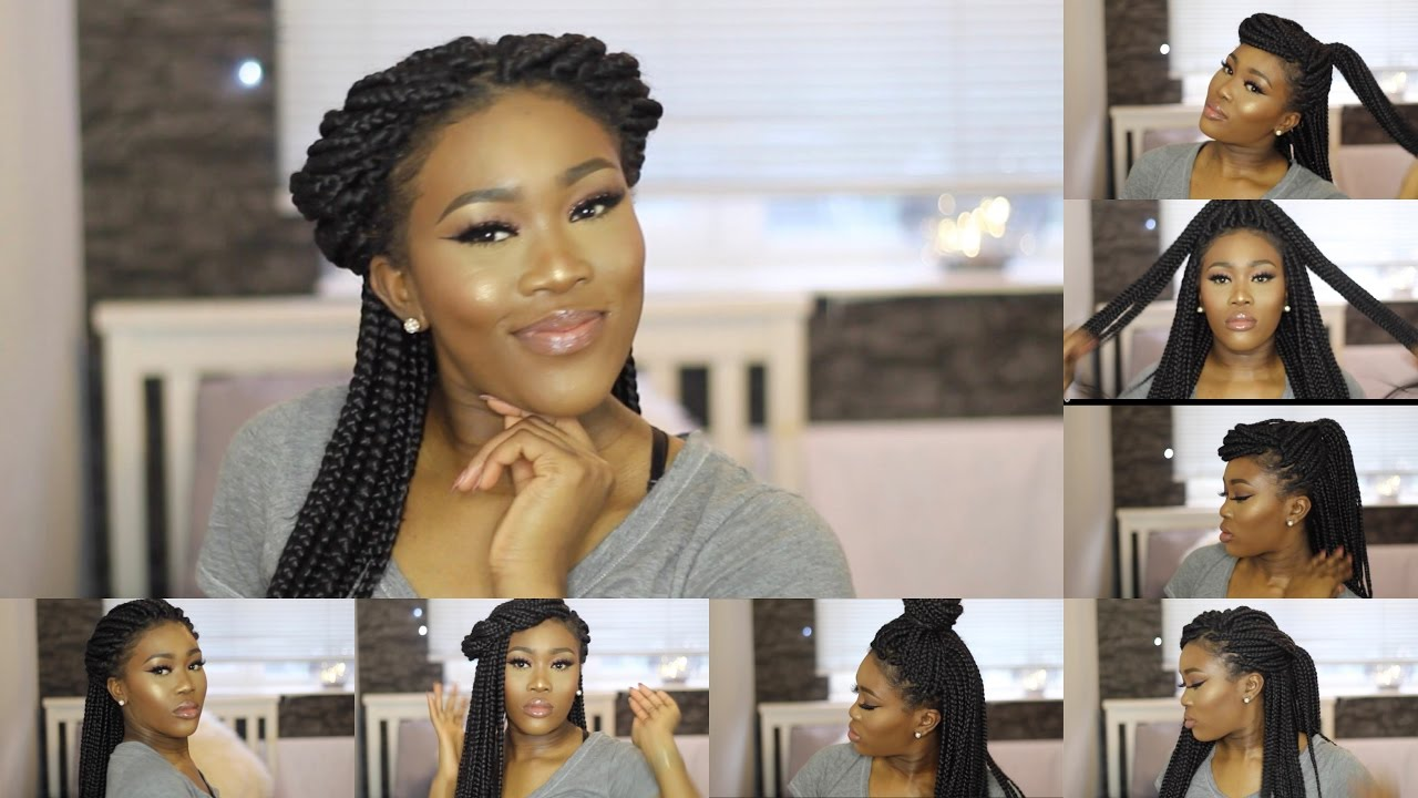Super Quick Easy Simple Box Braid Styles Youtube