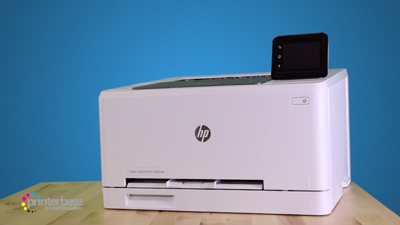 HP LaserJet Pro M252dw Colour Laser Printer Review | printerbase.co.uk - YouTube