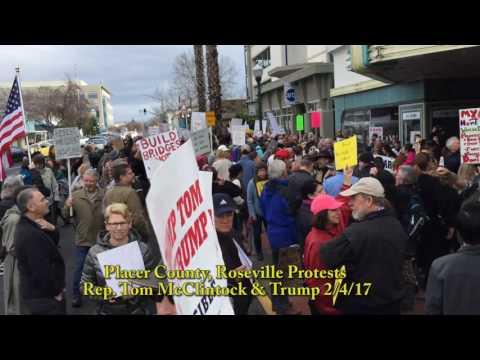 Placer County, Roseville, Protests Rep. McClintock and Trump