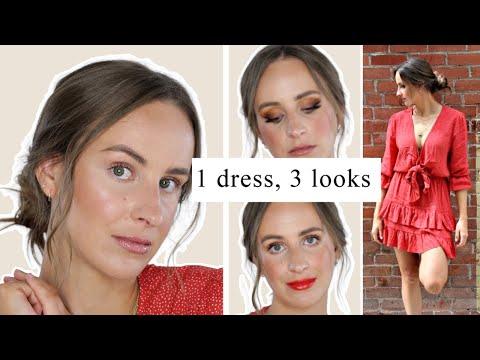 3 Makeup Looks For ORANGE Kivari DRESS | Trendy & Wearable Makeup For Spring