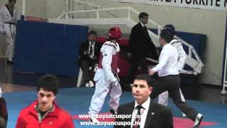 63kg Koksal Durusoy - Deniz Durdu (2012 Turkish Senyor Taekwondo Championships)