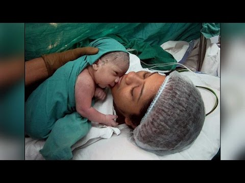 India's first test tube baby Harsha delivered a baby boy